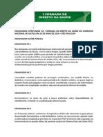 Enunciados Aprovados Na I Jornada de Direito Da Saúde Do CNJ