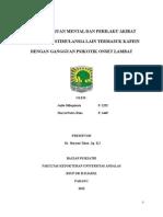 Case Gangguan mental dan perilaku akibat penggunaan zat psikoaktif dengan Dr. Heryezi Taher, Sp.Kj