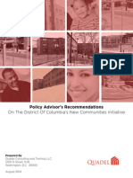 Policy Advisors Recommendations on the NCI Program