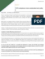 "Thomson Reuters Q&A ""FCPA in a New Era"""