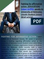 Jakari Griffith speaks to University of Nebraska-Lincoln Student Union