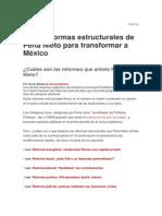 Reformas México