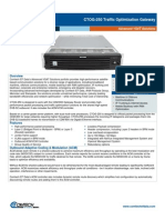 Comtech/EFData CTOG-250 Traffic Optimization Gateway Datasheet