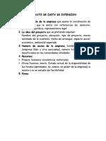 Formato de Carta de Intencion