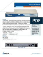 Comtech/EFData CXU-810 RAN Optimizer Data Sheet