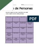 Bingo de Personas Presentaciones A2
