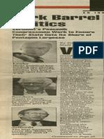 Pork Barrel Politics | Vermont Times | June 20, 1991