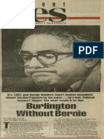 Burlington Without Bernie | Vermont Times | Mar. 28, 1991