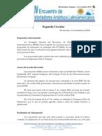 Segunda Circular - XIV EHAL - Uruguay 2014
