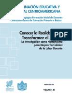 Ceec Sica - Coleccion Pedagogica 40 - Conocer La Realidad Para Transformar El Futuro