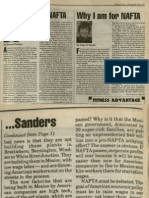 Why I Oppose NAFTA | Vermont Times | Oct. 28, 1993