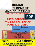 Human Development and Education
