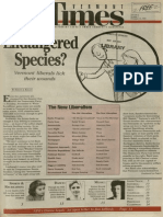 Endangered Species? Vermont Liberals Lick Their Wounds | Vermont Times | Nov. 16, 1994