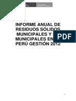 Informe Anual 2012 de Rrss - Peru