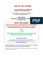 Sudheendra Kulkarni's Paper - Economy at the Service of Peace - Inter-Faith Meet in Antwerp 7-9 Sept 2014