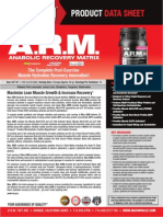 The Best Post Workout Supplement Shake meal drink is A.R.M Anabolic Recovery Matrix) by Max Muscle Sports Nutrition 2015
