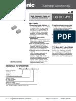 Ds1e-S-dc5v Relay Ag231944 Data Sheet