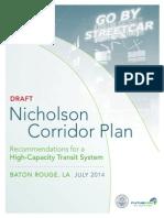 Nicholson Corridor Plan