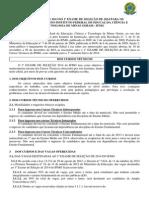 Edital 167 - Cursos Tecnicos 2014_1