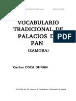 Vocabulario Tradicional de Palacios Del Pan (Zamora)