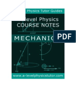 Physics Mechanics help booklet