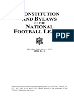 NFL's Constitution and Bylaws