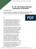 If, De Rudyard Kipling; Tradução de Guilherme de Almeida