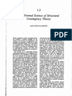 1.2- The Normal Science of Structural Contingency Theory