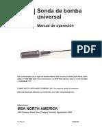 Solaris Universal Pump Probe Instruction Manual - ES