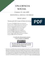 CS_13 Biopolítica, Ciencia y Sociedad