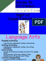 3rd Grade Curriculum Night Powerpoint