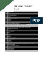 Daftar Kode Medis Penyakit