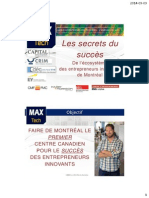 2014-09-09 Montreal Startup Breakfast Club with Martin Duchaîne, of Capital Innovation