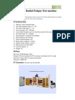 Wheel Radial Fatigue Test Machine