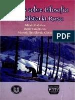Ensayos Sobre Filosofía de La Historia Rusa - Mijail Malishev, Boris Emilianov y Manola Sepúlveda Garza