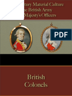 Military - British Army - His Majesty's Officers 1730 - 1785