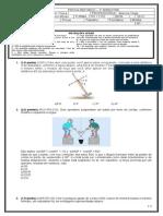 PROVA REFORÇO - TURMA 2101-2102 - FÍSICA I - 3° BIMESTRE - 2013