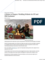 A Matter of Degree_ Wedding Website for IIT and IIM Graduates - India Real Time - WSJ