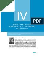 Vigencia de La Clase Magistral en La Universidad Del Sigloxxi