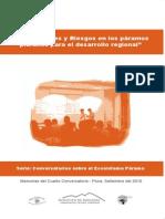 Memorias 4to Conversatorio Ecosistema Paramo