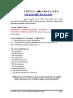 Contoh Hasil Olah Data (Www.konsistensi.com)