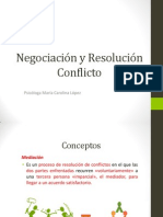 Clase Negociación y Resolución Conflicto