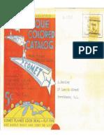 1932 Comet Catalog
