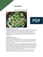 3 recetas vegetarianas