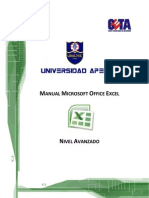 Manual Microsoft Office Excel Avanzado