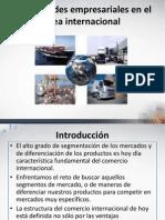 Modalidades Empresariales en El Area Internacional