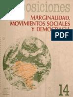 Proposiciones. Marginalidad, Movimientos Sociales y Democracia
