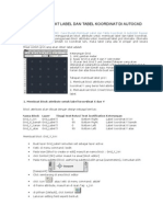 Cara Membuat Label Dan Tabel Koordinat Di Autocad