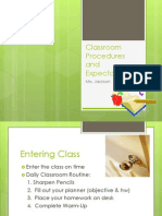 classroom procedures and expectations ppt