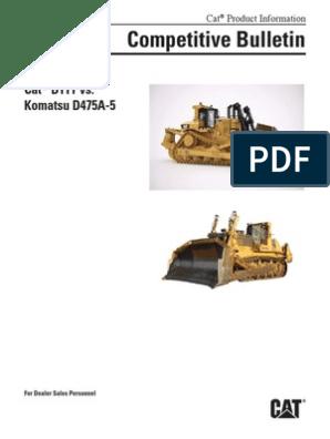 Cat® D11T vs Komatsu D475A-5 | Transmission (Mechanics) | Clutch